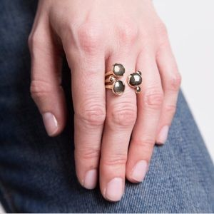 NWT Pamela Love Brass Enoki Ring